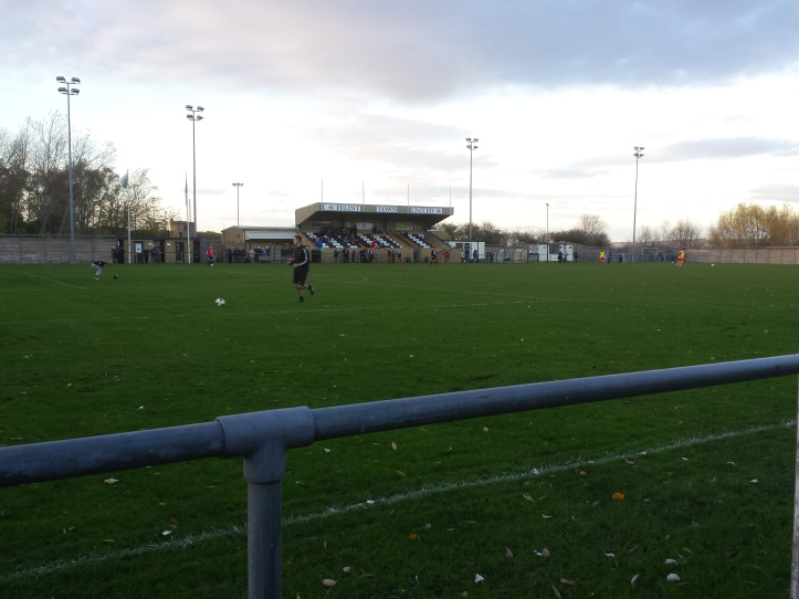 The view of the main stand with the castle in the background