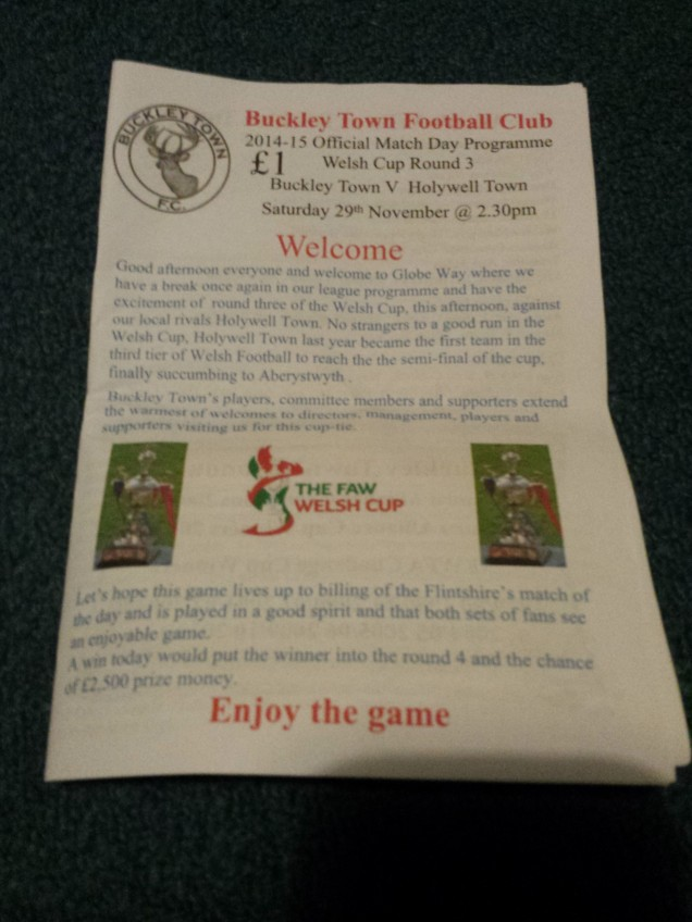 The programme from the game