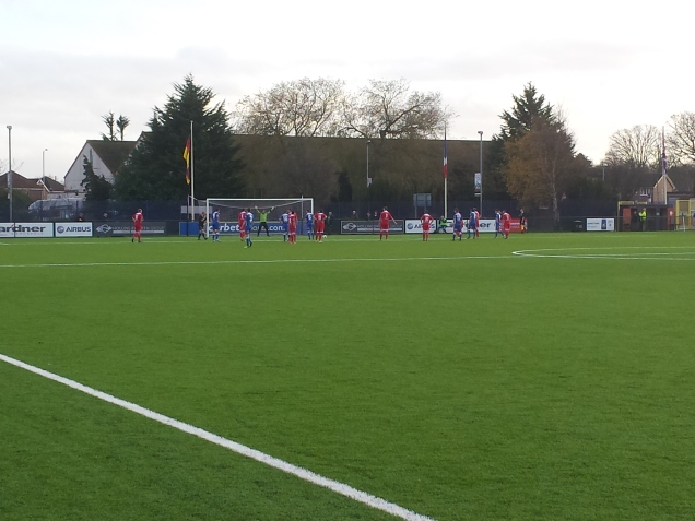 Airbus' first penalty of the afternoon.  Also a good view of their new 3G surface.