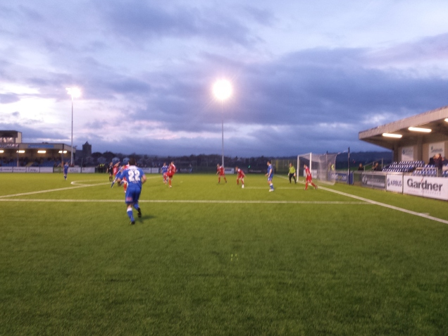 Just before Wignall's thunderbolt hits the back of the net!