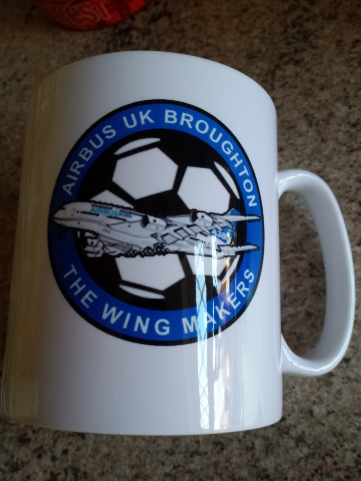 A welcome addition to the football club mug collection
