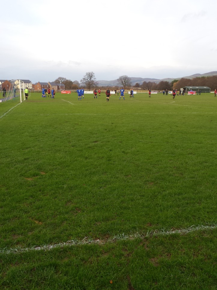 A rare Penyffordd attack in the first half