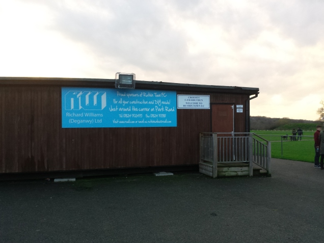 Entrance to Ruthin's ground