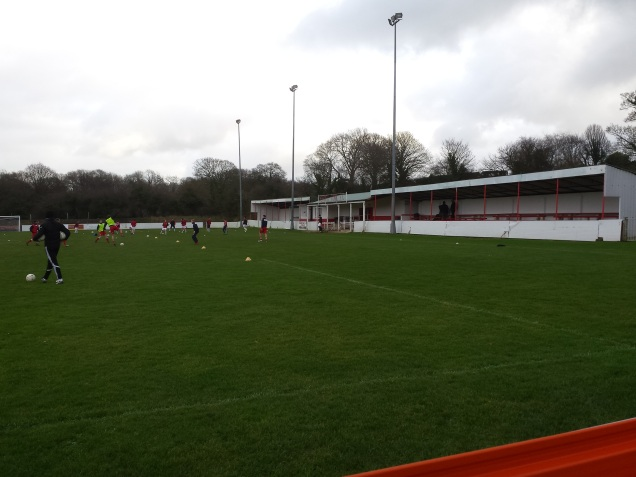 The main stand at Holywell