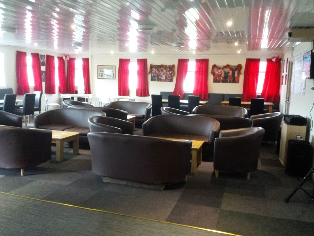 The new clubhouse at Holywell