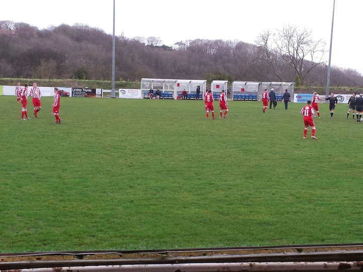 Holywell getting ready for the match