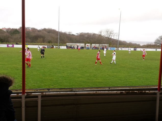Holywell on the attack in the first half