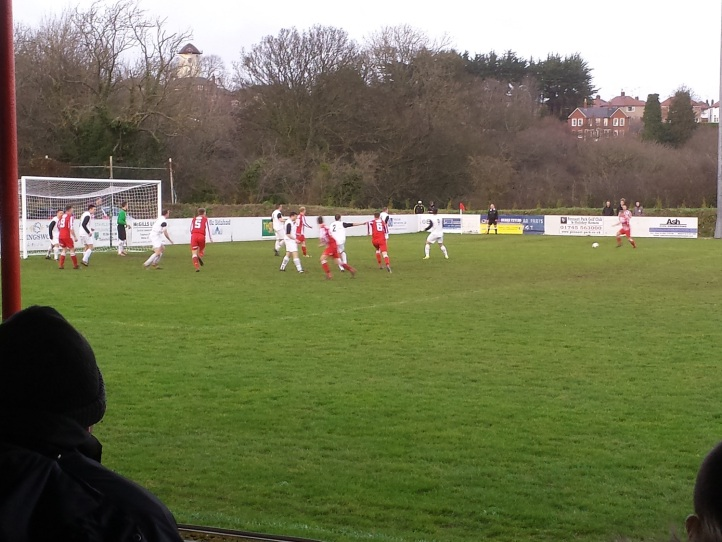 Holywell on the attack in the second half