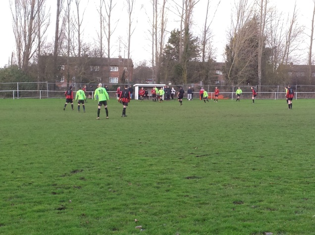 Overton on the attack looking for the equaliser