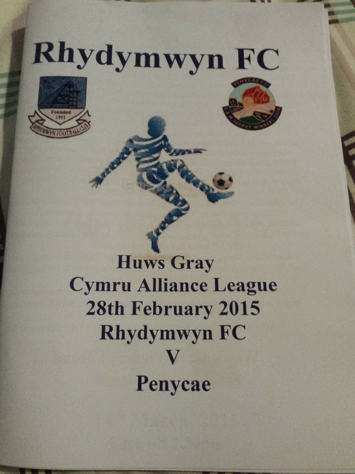 The Rhydymwyn programme produced for the match.