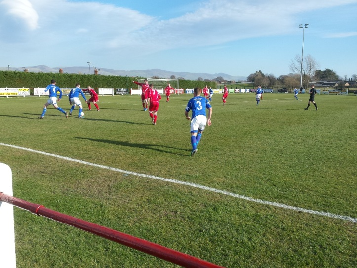 Caersws' #9 causing havoc down the left