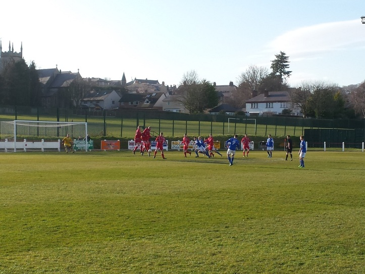 Another free kick where the ball ended in the net, but declared offside!