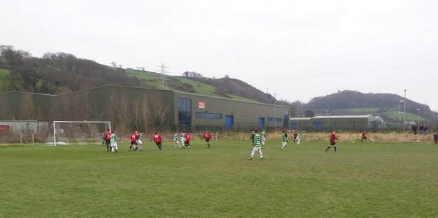 Gaerwen on the attack down the right