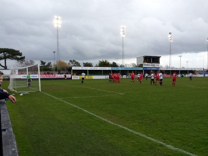 Free kick to Rhyl in the dying seconds of the match...