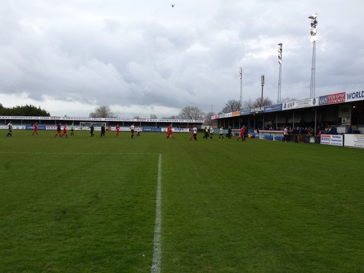 Full time and the teams trudge off the pitch with the away team the happier!