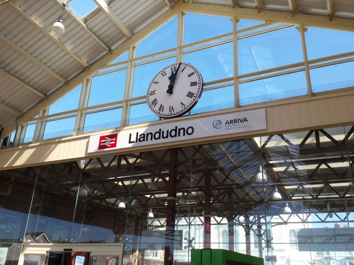 Arrival at Llandudno train station
