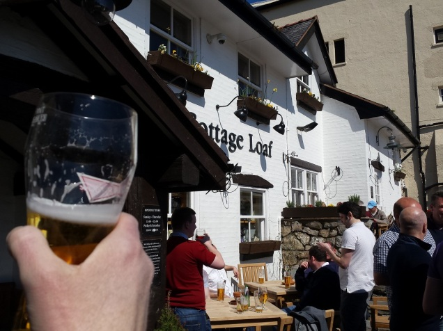 The first pub of the afternoon - The Cottage Loaf Lovely pub, well recommended!