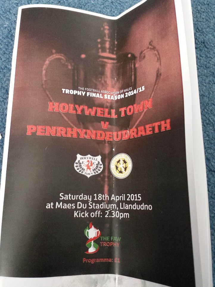 The programme from the game which is a little bit creased from the day!