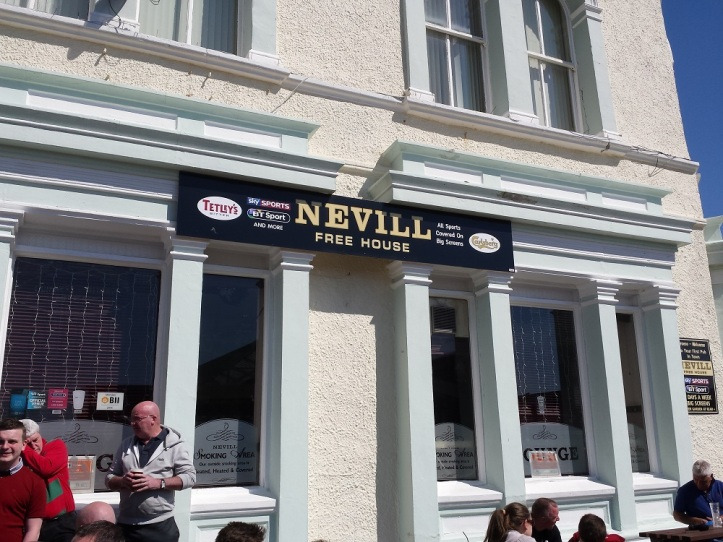 Third pub of the afternoon - The Nevill Great pub opposite the station