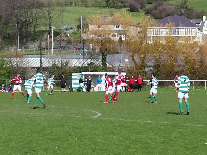 Header from Llanrug with the dugouts in the background