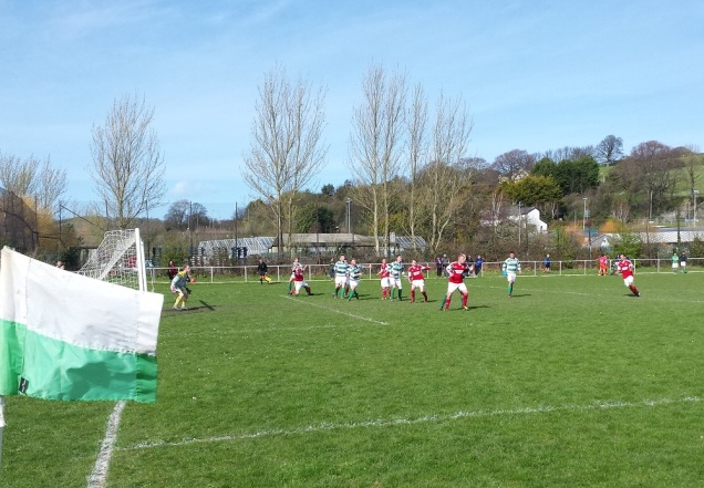 A late free kick in the first half