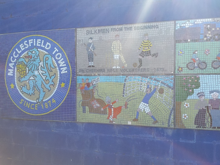 Some of the mosaics outside of the ground