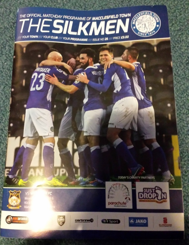 The programme for the match