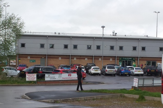The main stand with the club shop entrance to the right of the stand