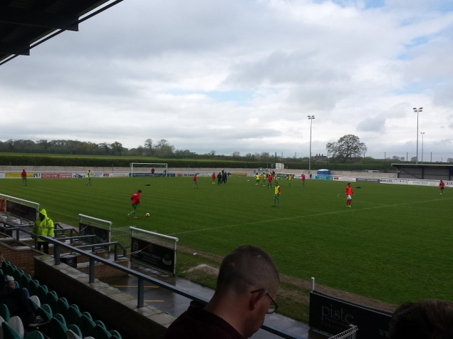 The home side going through their pre-match training exercises