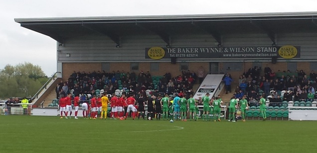 The teams come out to a warm welcome
