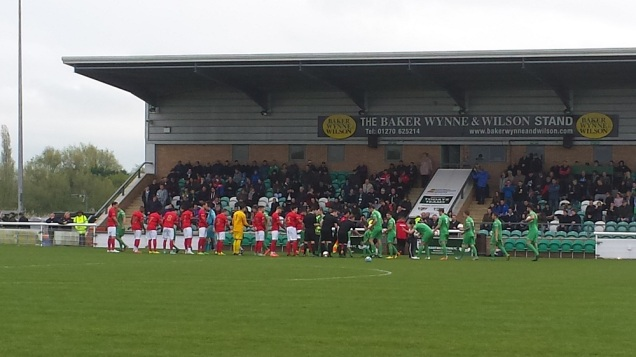 The formal pre-match handshakes