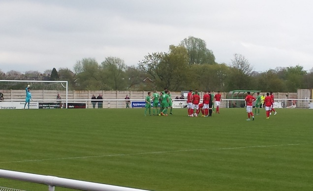 The free kick prior to the opening goal