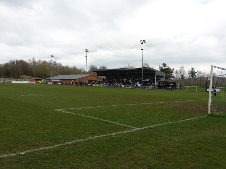 The view of the main stand and social club