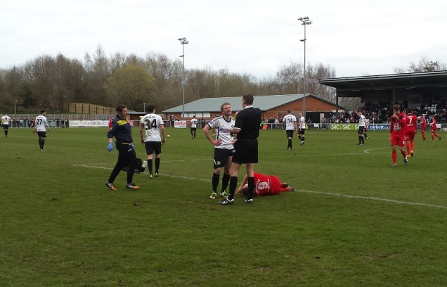 Another injury, another caution! The Newtown physio was busy on the day!