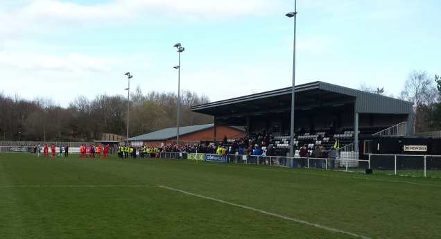 Both team and supporters applauding each others' efforts