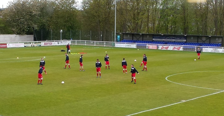 Holywell Town warming up
