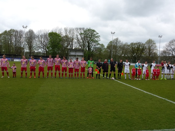 The teams lining up