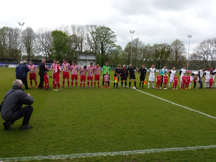 Shaking hands with the FAW dignitories