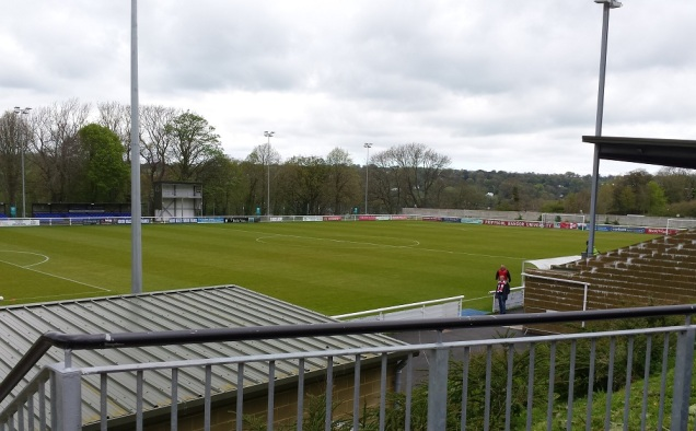 The pitch from the entrance