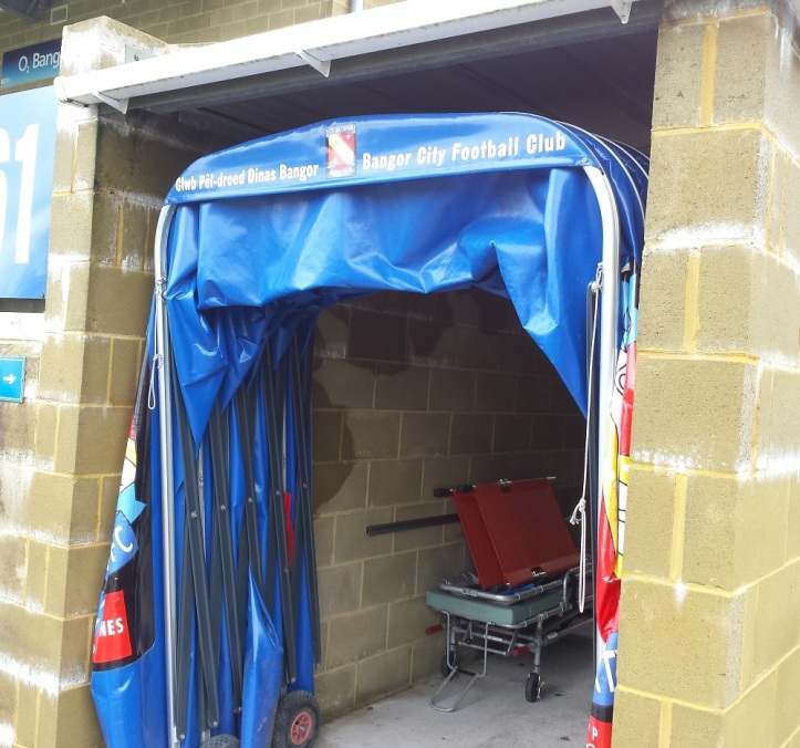 The entrance to the changing rooms