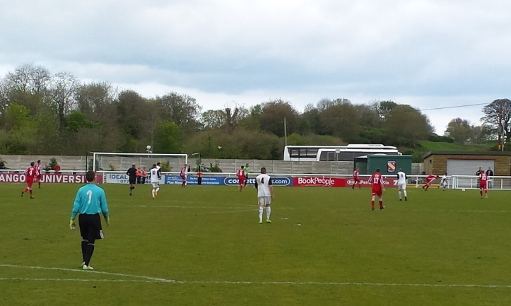 Llanrug on the attack looking for the winning goal!
