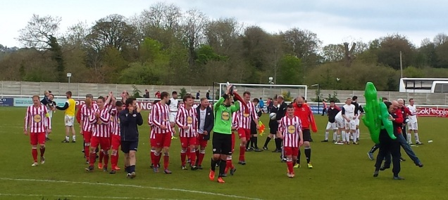 Applauding the Holywell fans