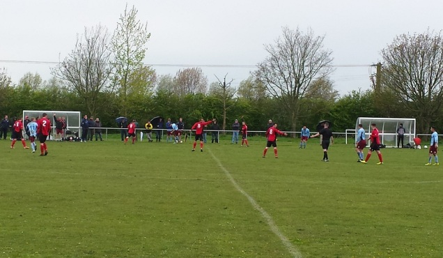 The referee not making any Saltney friends this afternoon