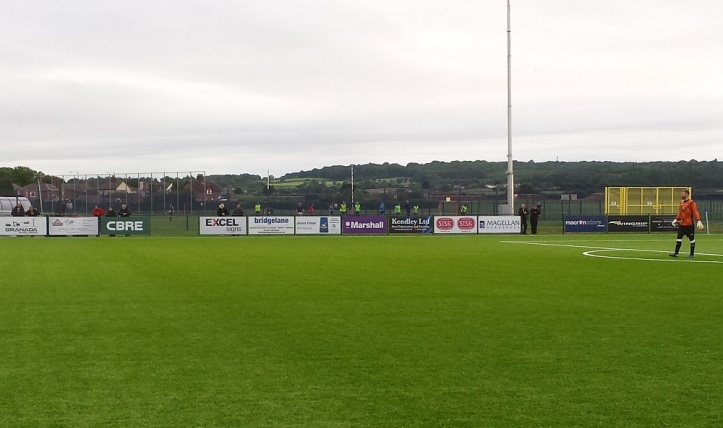 Airbus Ladies training behind the main stand
