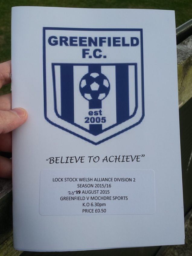 The programme for the game
