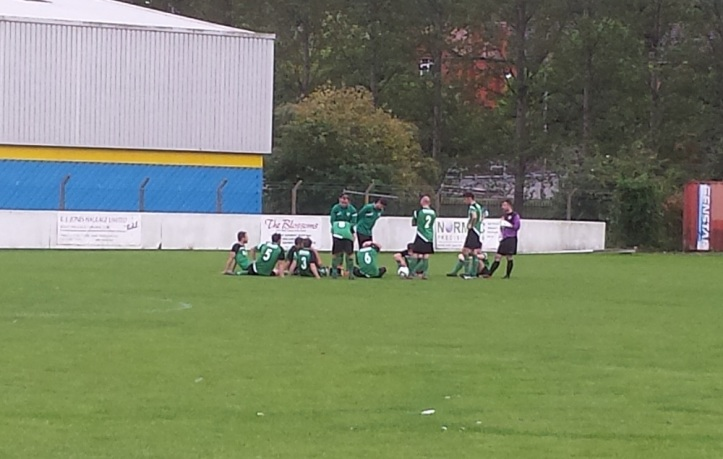 Greenfield receiving their half time team talk