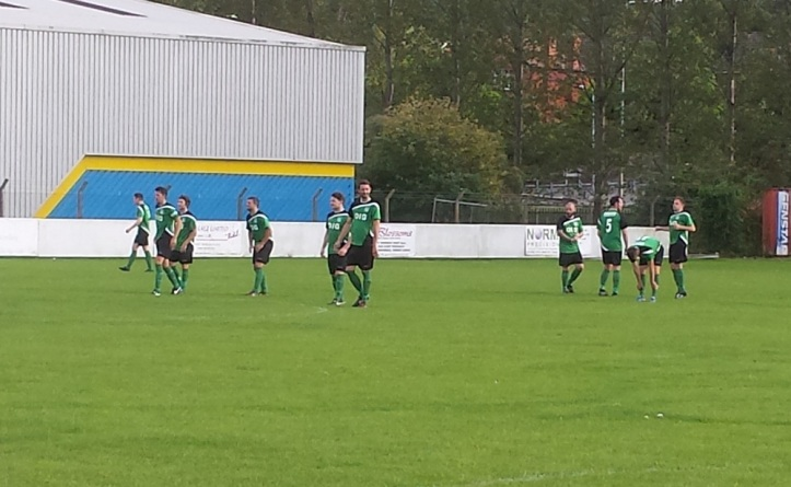 Greenfield giving their new kit a debut
