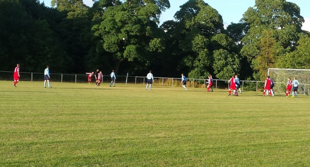 The throw-in that leads to Holywell taking a three goal advantage