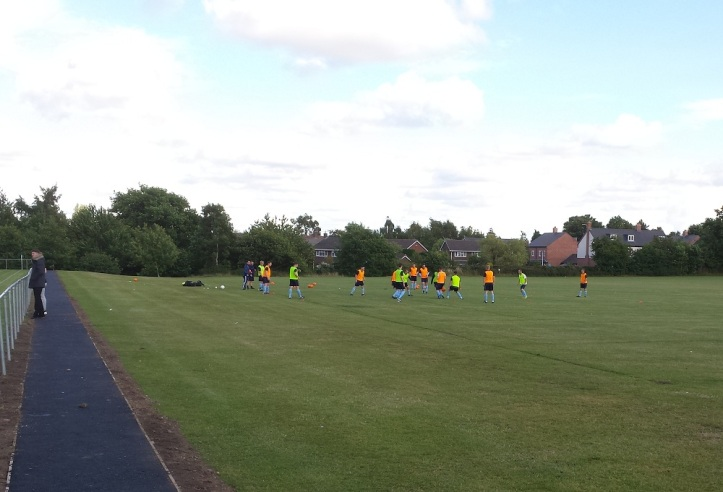 Hawarden warming-up