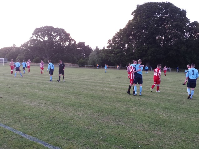 Good sportsmanship at the final whistle